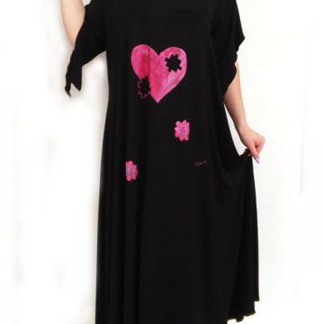 φόρεμα με ζωγραφική για παχουλές
