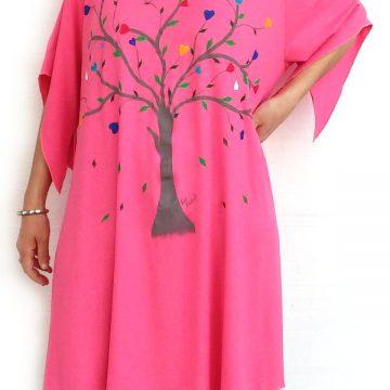 Μπλούζα Υπερμέγεθος Κοντομάνικη Ζωγραφική Δέντρο της Αγάπης 14d56e75d35