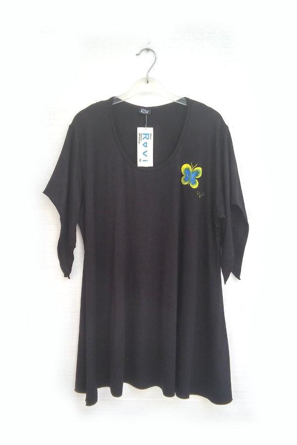 Μπλούζα Υπερμέγεθος Ζωγραφική Πεταλούδα Ρουά Κίτρινη 6829b32d878
