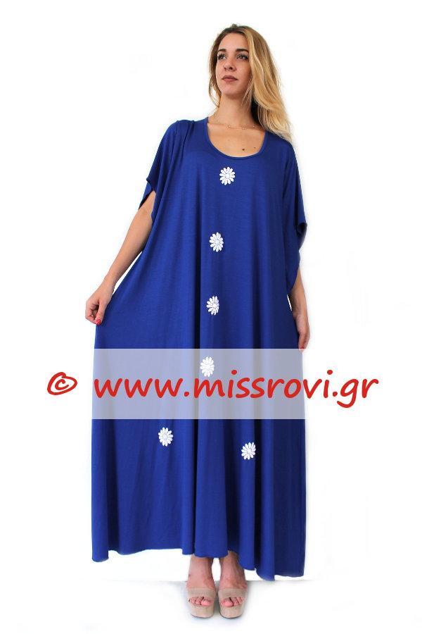 f8abbfc852e4 Φόρεμα Υπερμέγεθος Μάξι Μοτίφ Μαργαρίτες | Miss Rovi Fashion