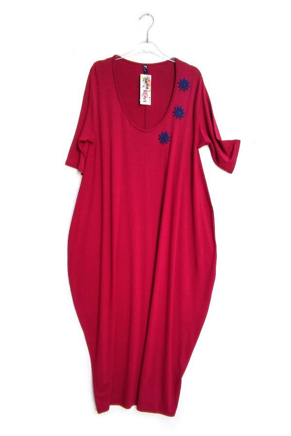 b65d8bf3af72 Φόρεμα Φαρδύ Τρουακάρ Σάκος Μοτίφ Μαργαρίτες