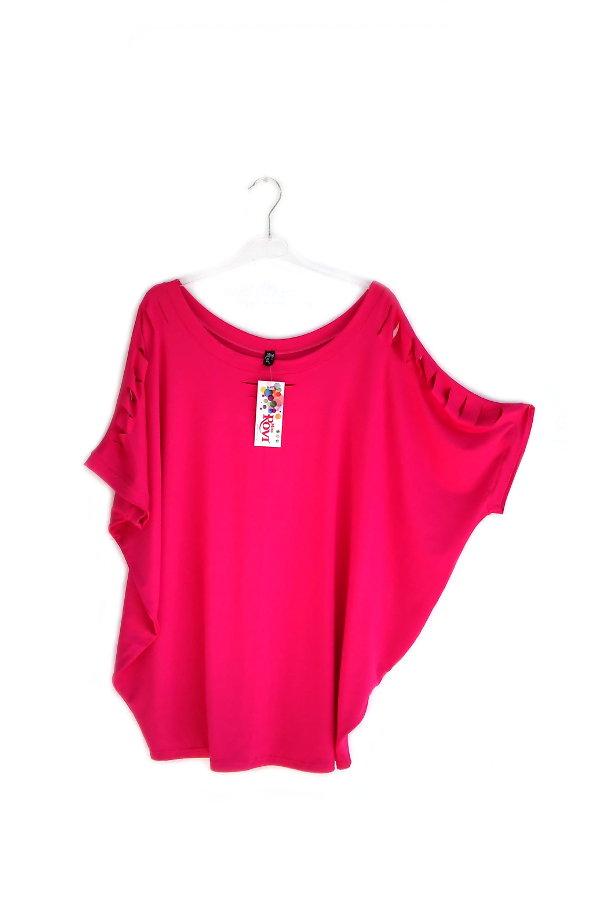 a968efb2d3d0 ... Ενδιάμεση Κοντομάνικη Σκισίματα Onesize. νεανικά ρούχα για παχουλές μπλούζα  νυχτερίδα