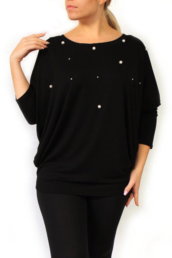 1f3450f0d590 ... Νυχτερίδα με Μανσέτα Πέρλες Onesize. μπλούζα πέρλες μεγάλα μεγέθη