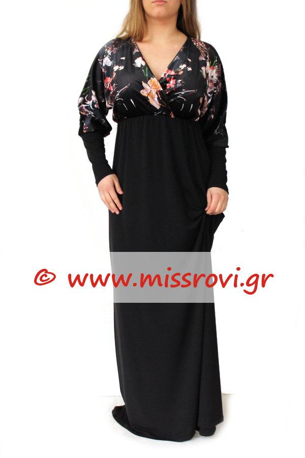 35b213ce8be6 ... Φόρεμα Κρουαζέ Μάξι Αμπιγιέ Κομποζέ Βελούδο Φλοράλ Onesize. γυναικεία  ...