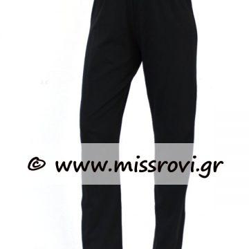 κλασικό παντελόνι βαμβακερό μαύρο